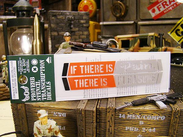 ことわざステンシル転写ステッカー(苦あれば楽あり) ■ 自分仕様だから愛着も強くなる! こだわり派が夢中になる人気のアメリカ雑貨屋 ステッカー アメリカン雑貨 車 バイク スーツケース デカール シール ヘルメット 世田谷ベース スマホ iphone レトロ