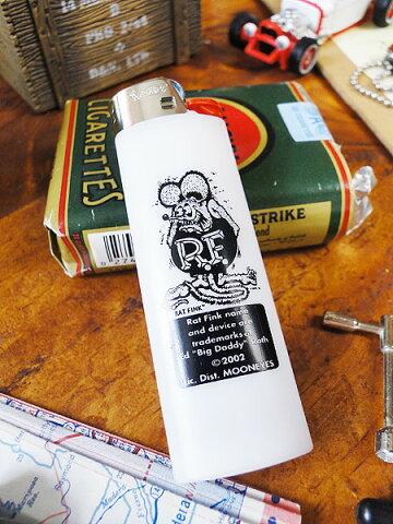 ラットフィンクのBICライター(ホワイト) ■ アメリカ雑貨 アメリカン雑貨 喫煙具 ライター おもしろ おしゃれ 人気 喫煙グッズ ギフト プレゼント メンズ レディース アメキャラ