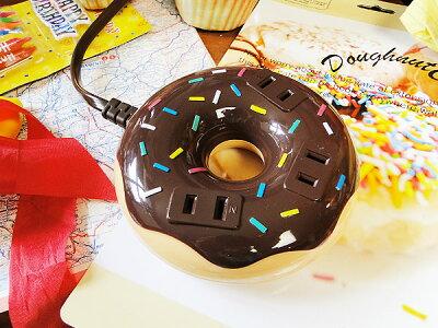 ドーナツの形をしたおいしそうな延長コード!ドーナツコード 3タップ 1500w(チョコ) ★ア...