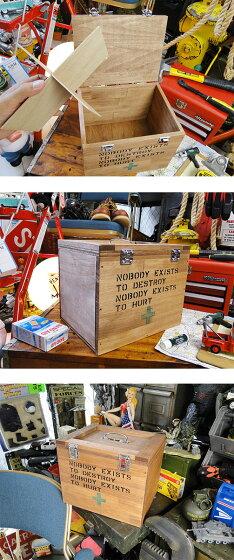 セキュリティボックス★アメリカ雑貨木箱★アメリカン雑貨木箱