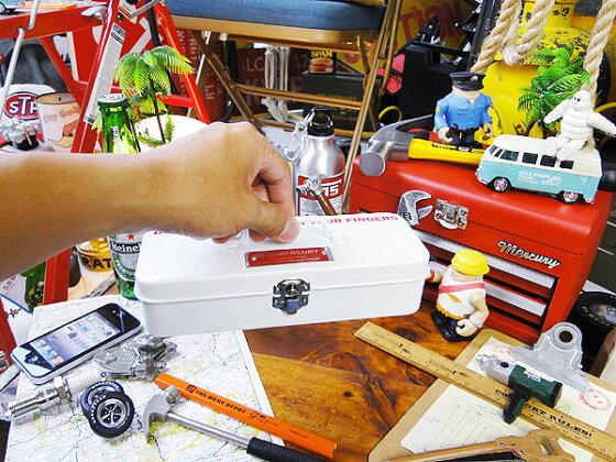 ボクらはただ収納するってんじゃダメなんです!マーキュリーのミニツールボックス(ホワイト)■アメリカ雑貨アメリカン雑貨道具箱おしゃれ人気ブランドインテリア雑貨グッズ工具箱ツールボックス