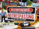 エリア51の立入禁止区域看板をモチーフに、ライセンスプレートサイズで再現!エリア51・立入禁...