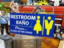 U.S.パブリックサインステッカー(トイレ使用後は流してください) ■...