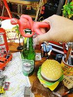 ルチャドールのボトルオープナー(レッド)★アメリカ雑貨★アメリカン雑貨