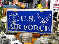 U.S.エアフォースのミリタリーライセンスプレート★ナンバープレートアメリカ看板サインプレートアメリカ雑貨アメリカン雑貨