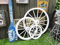 アンティーク木製車輪(ホワイト/3サイズセット)★ウエスタングッズ★アメリカ雑貨★アメリカン雑貨