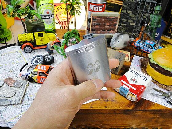 ムーンクラッシックポケットアシュトレイ(シルバー)★携帯灰皿★アメリカ雑貨★アメリカン雑貨