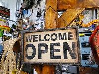 オープン&クローズのアンティークボード★アメリカ雑貨★アメリカン雑貨★アメ雑貨★アメ雑アメリカン雑貨通販