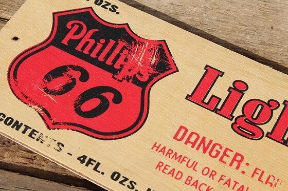 アメリカンガレージのミニウッドサイン(フィリップス66)■アメリカ雑貨アメリカン雑貨