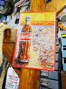 コカ・コーラのブリキポスター(コークアート) ■ アメリカ雑貨 アメリカン雑貨 壁掛け 壁飾り インテリア雑貨 おしゃれ 人気 アンティーク 壁面装飾 絵 装飾 ディスプレイ 内装 ウォールデコレーション コカコーラグッズ Coca-Cola ブリキ看板 サインプレート コーラ