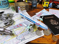 懐かしのブリキのおもちゃ飛行機★アメリカ雑貨★アメリカン雑貨
