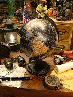 アンティークグローブブラックオーシャン地球儀(Mサイズ)★アメリカ雑貨★アメリカン雑貨