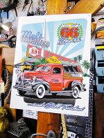 メルズ・ドライブイン66周年アニバーサリーのブリキ看板■サインプレートブリキアメリカ看板ティンサインサインボードアメリカンブリキ看板アメリカ雑貨アメリカン雑貨