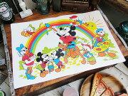 ディズニー ヴィンテージ ミッキーマウス ランチョン レインボー アメリカ アメリカン こだわり テーマパーク アウトドア