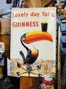 ギネスビールの3Dパブサイン(トゥカン) ■ サインプレート ブリキ看...