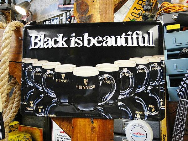 ■一味違うリッチな看板で仕上げる大人の空間! ギネスビールの3Dパブサイン(ブラック・イズ・ビューティフル) ■ サインプレート ブリキ看板 アメリカ看板 ティンサイン サインボード アメリカ 看板 アメリカ雑貨 アメリカン雑貨 壁掛け 壁飾り おしゃれ 人気 壁立て