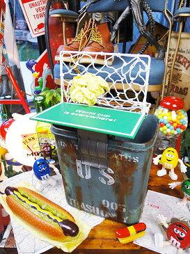 おバカなことをマジで商品にしちゃいました♪チアリングフットボール ■ アメリカ雑貨 アメリカン雑貨 ごみ箱 おもちゃ サッカー ゴール