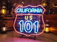 【全国送料無料】カリフォルニア・ルート101のネオン管★アメ雑★アメリカ雑貨★アメリカン雑貨
