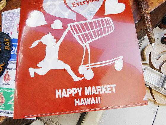 ハレイワのクリアホルダー(レッド)★ハワイ雑貨★アメリカ雑貨★アメリカン雑貨