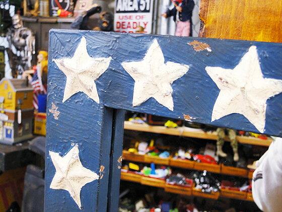 星条旗ウォールミラーSサイズ★アメリカ雑貨★アメリカン雑貨