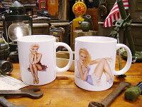 バーガスガールの100周年記念マグカップ2個セット■アメリカ雑貨アメリカン雑貨