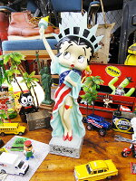 ベティ・ブープのレジンフィギュア(リバティベティ)★アメリカ雑貨★アメリカン雑貨★アメキャラ★アメコミ