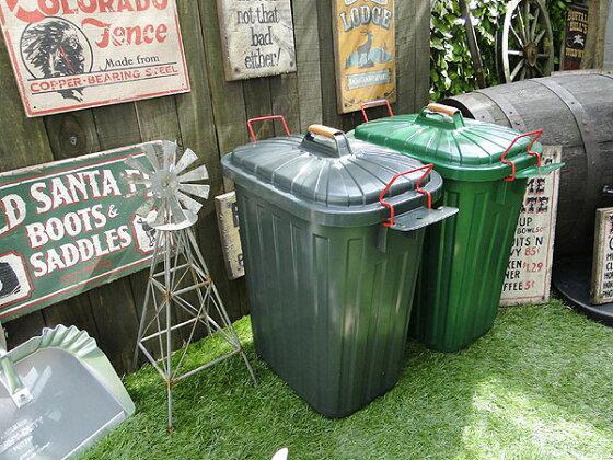 ペール×ペール・ダストボックス60リットルサイズのゴミ箱(2色セット)★アメリカ雑貨★アメリカン雑貨