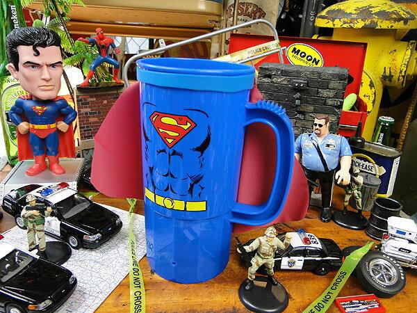 スーパーマンのマント付きタンブラー ■ アメリカ雑貨 アメリカン雑貨