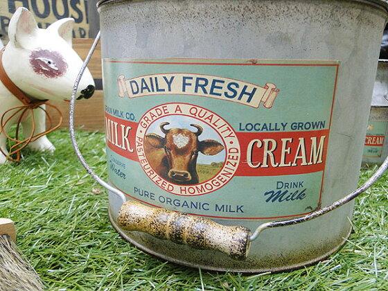 ミルク缶型のハンドルカン★アメリカ雑貨★アメリカン雑貨