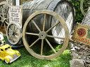 アンティーク木製車輪 Mサイズ(ブラウン) ■ アメリカ雑貨 アメリカ...