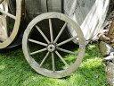 アンティーク木製車輪 Sサイズ(ブラウン) ■ アメリカ雑貨 アメリカ...