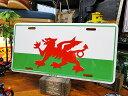 ウェールズのライセンスプレート ■ ナンバープレート アメリカ看板 サ...