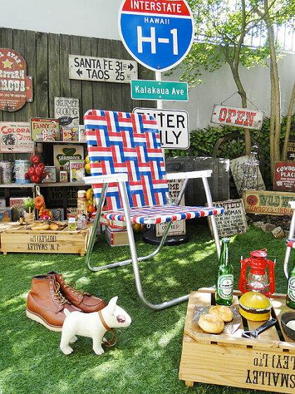 ローンチェアー(デラックスチェア/オールドグローリー)■アメリカ雑貨アメリカン雑貨