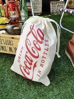 コカ・コーラブランドキンチャクバッグ(Mサイズ)★コカコーラグッズ雑貨グッズブランドCoca-Cola★アメリカン雑貨★アメリカ雑貨★アメ雑貨