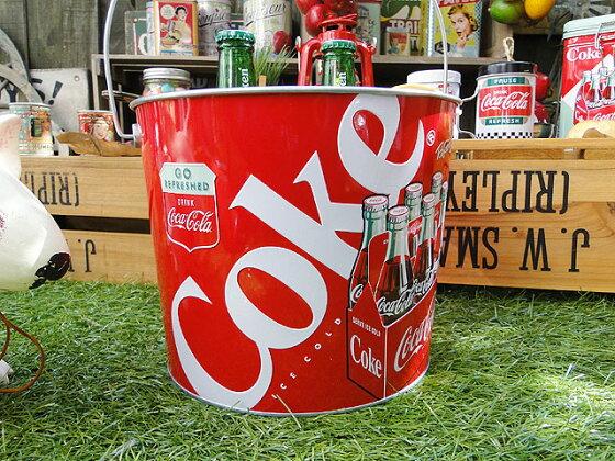 コカ・コーラブランドアイスバケツ(コンツアーボトルのハンドル付き)■コカコーラグッズ雑貨グッズブランドCoca-Colaアメリカ雑貨アメリカン雑貨