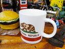 カリフォルニア州旗のマグカップ ■ アメリカ雑貨 アメリカン雑貨 西海...