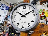 ブリティッシュ・クラシックウォールクロック(グレー)■壁掛け時計アメリカ雑貨アメリカン雑貨
