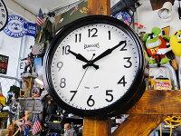 ブリティッシュ・クラシックウォールクロック(ブラック)■壁掛け時計アメリカ雑貨アメリカン雑貨
