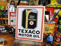 ノスタルジック・ガレージステッカー(テキサコ・オイル缶)■アメリカ雑貨アメリカン雑貨シール