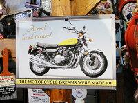 国産バイクのブリキ看板カワサキ900Z1■アメリカ雑貨アメリカン雑貨