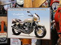 国産バイクのブリキ看板カワサキZRX■アメリカ雑貨アメリカン雑貨