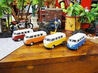 1963年ワーゲンバスのミニカー(4台セット)■アメリカ雑貨アメリカン雑貨