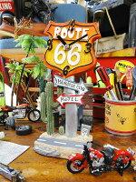 ロードサイン・テーブルクロック(ルート66)■壁掛け時計アメリカ雑貨アメリカン雑貨