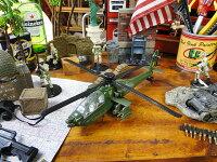 AH-64アパッチヘリコプターのミニカー(グリーン)■アメリカ雑貨アメリカン雑貨