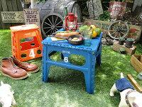 フォルディング・テーブル(ブルー)■アメリカン雑貨アメリカ雑貨