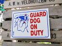 アメリカのプラスチックサインプレートS(番犬勤務中) ■ サインプレー...