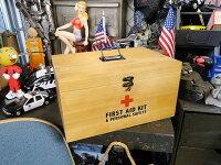 ウッド製ファーストエイドボックス■アメリカ雑貨アメリカン雑貨