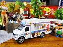 フードスタンドカーのプルバックミニカー(アイスクリーム) ■ アメリカ雑貨 アメリカン雑貨 アメ車 こだわり派が夢中になる人気のアメリカ雑貨屋 小物 モデルカー 正規品 おしゃれ ガレージグッズ ミニカー