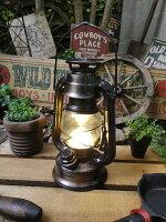 ランタン型LEDランプ(ブロンズ/Sサイズ)■アメリカ雑貨アメリカン雑貨アウトドアガーデニングライト生活雑貨照明おしゃれ