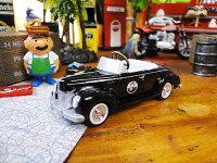1940年代のテキサコのペダルカーを再現したミニカー限定品(1940フォード・デラッククーペ/ブラックA)■アメリカ雑貨アメリカン雑貨